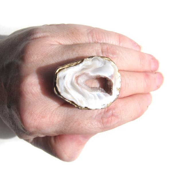 sliced agate ring