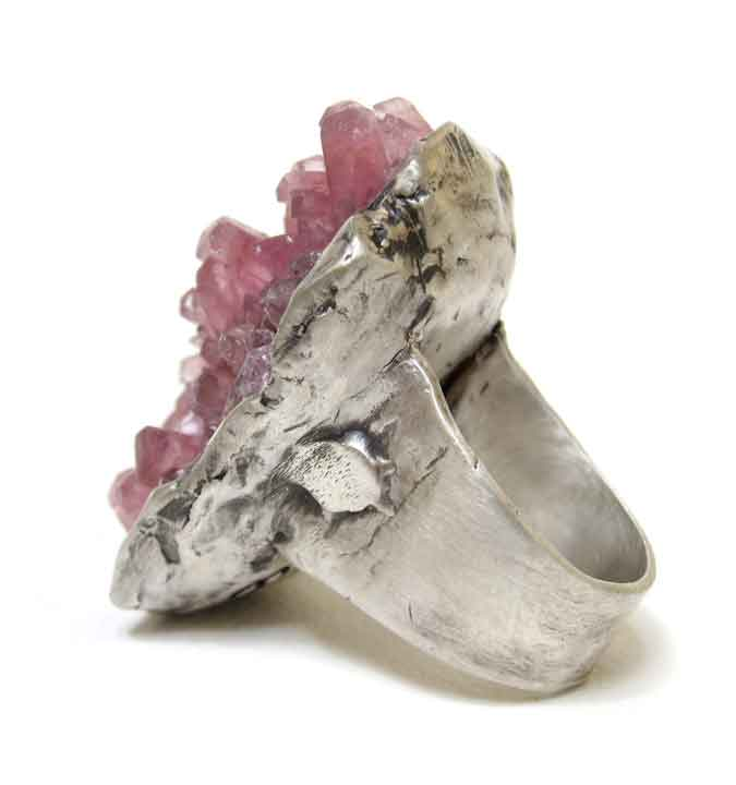 cobaltoan calcite ring
