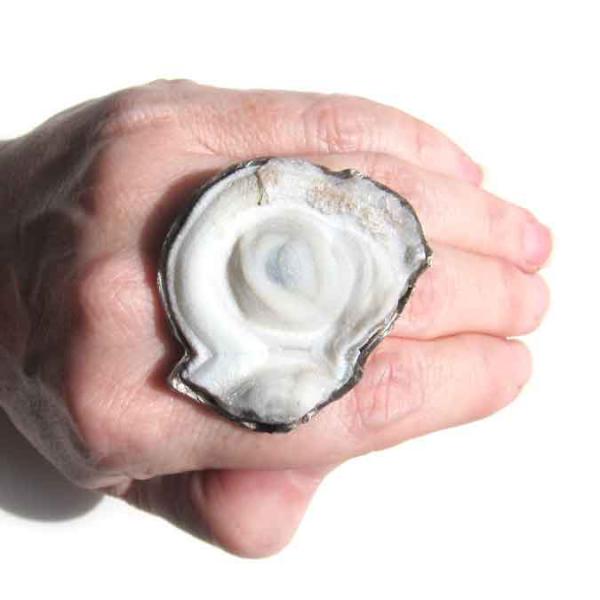chalcedony rosette ring