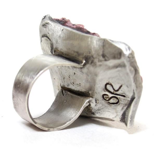 cobaltian calcite druzy ring susan ritter