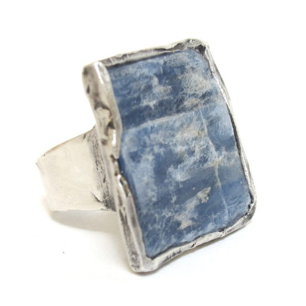 raw kyanite silver ring susan ritter