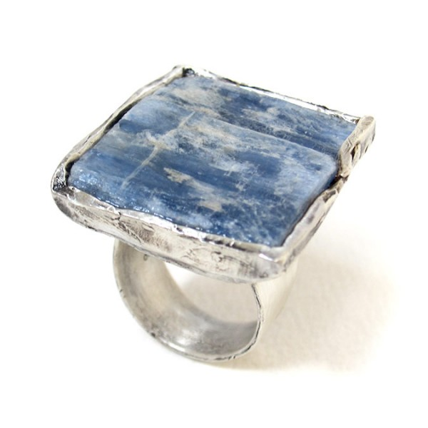 raw kyanite silver rings susan ritter
