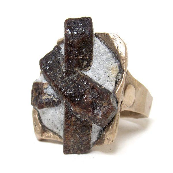 staurolite ring bronze susan ritter
