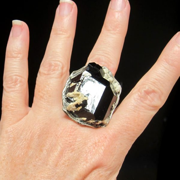 susan ritter black tourmaline ring