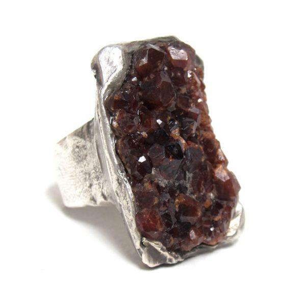 susan ritter raw spessartine garnet ring