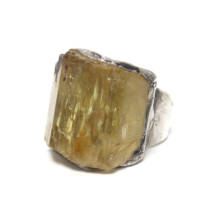 susan ritter raw apatite ring
