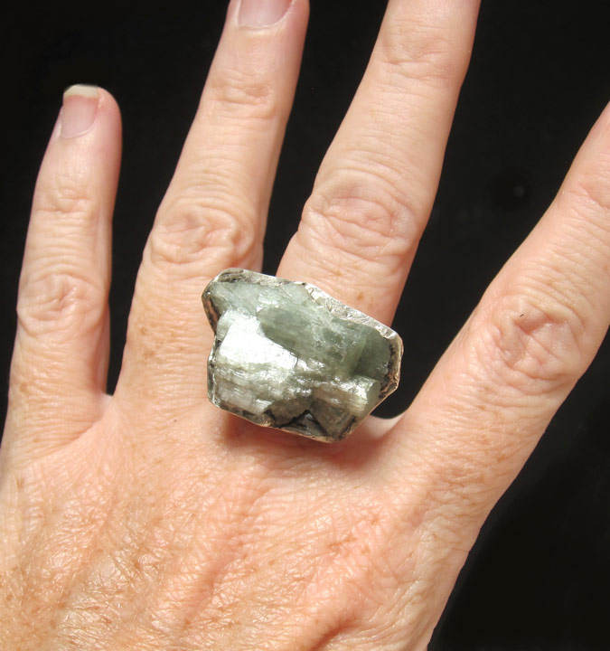 susan ritter blue beryl aquamarine silver ring